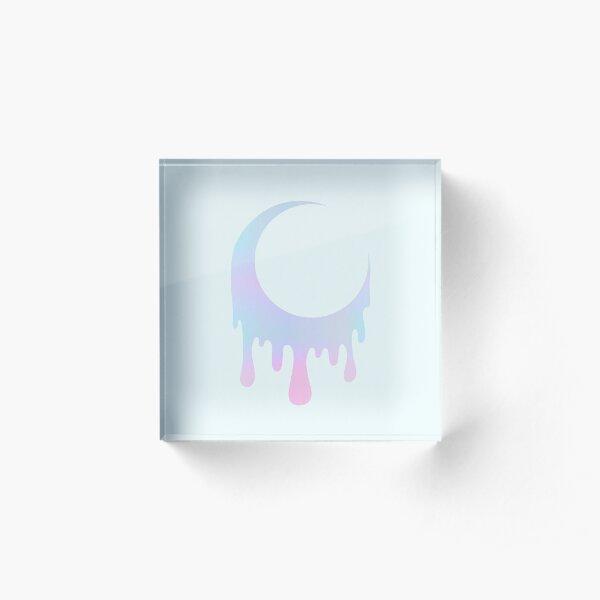 Melty Moon Acrylic Block