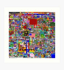 Reddit r/Place 10K resolution Official r/TheFinalClean Cleaned Version Art Print
