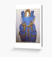 Blue rucksack Greeting Card