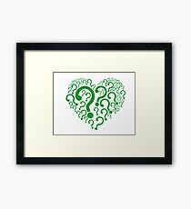 The Riddler Framed Print