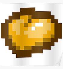 Coeur d'or 8-bits Poster