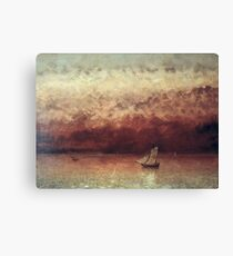 Gustave Courbet - Lake Leman With Setting Sun Canvas Print