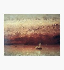 Gustave Courbet - Lake Leman With Setting Sun Photographic Print