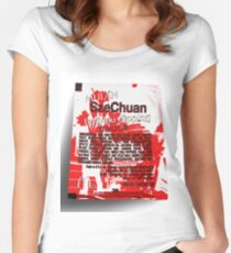 1988 Mcdonalds SzeChuan Mulan Promotion McNugget Sauce tshirt (Rick And Morty) Women's Fitted Scoop T-Shirt