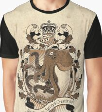 Octopus Coat Of Arms Heraldry Graphic T-Shirt