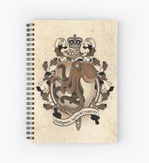 Octopus Coat Of Arms Heraldry Spiral Notebook