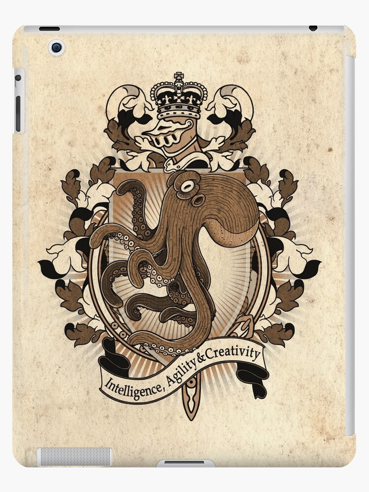 'Octopus Coat Of Arms Heraldry' iPad Case/Skin by Heather Hitchman