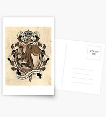 Octopus Coat Of Arms Heraldry Postcards