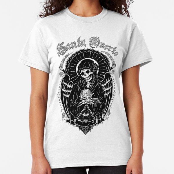 Skull T Shirt Rock Metal Biker Tattoo Goth Horror Head Pirate Punk Reaper Ladies