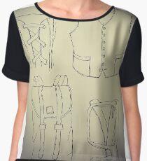 Fashion drawing Chiffon Top