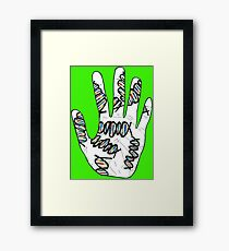 Double Helix Hand Framed Print