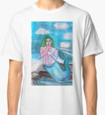 Female mermaid painted with watercolours Classic T-Shirt