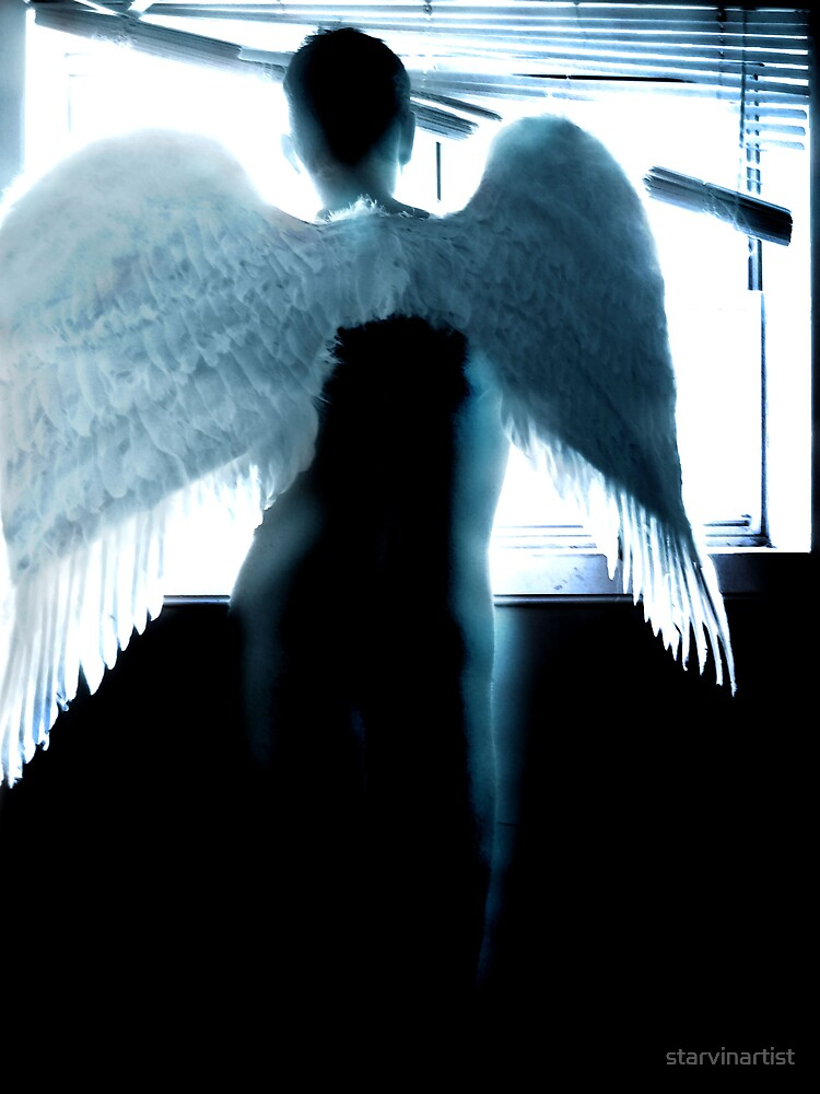 Angel -blue- by starvinartist