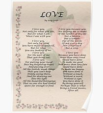 Love by Roy Croft Poster