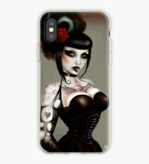 Gothabilly Pinup, gothic art iPhone Case