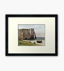 Gustave Courbet - The Cliffs At Etretat Framed Print