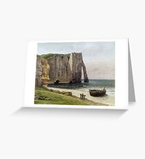 Gustave Courbet - The Cliffs At Etretat Greeting Card