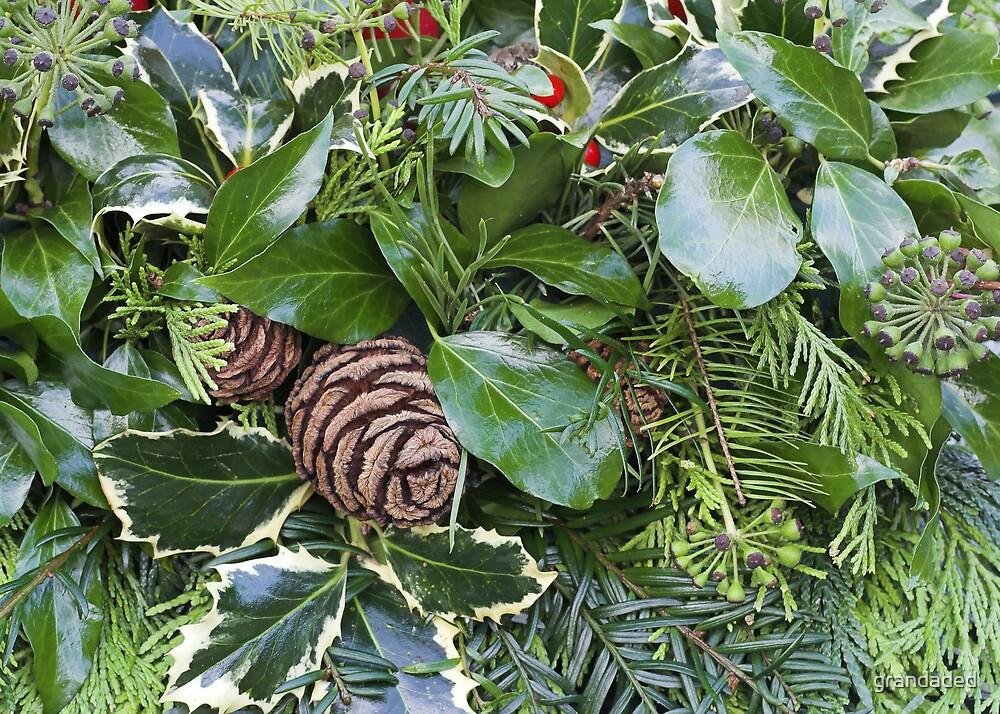 Evergreen Garland Detail by grandaded