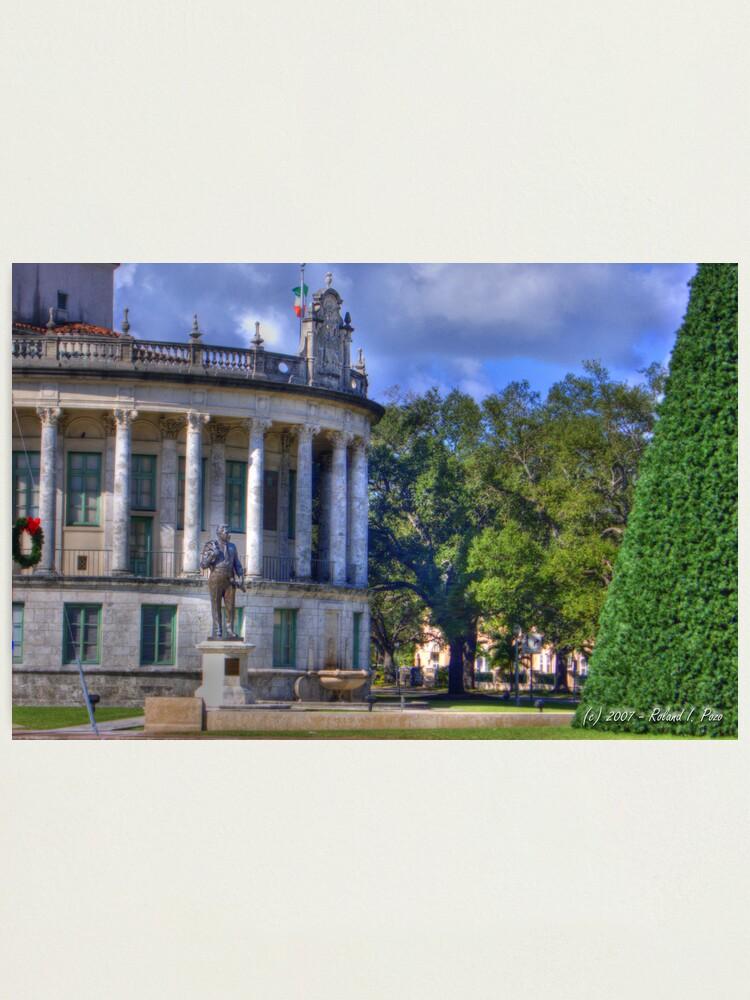Alternate view of Xmas at City Hall Photographic Print