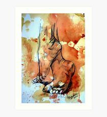 Barefoot in the rain Art Print