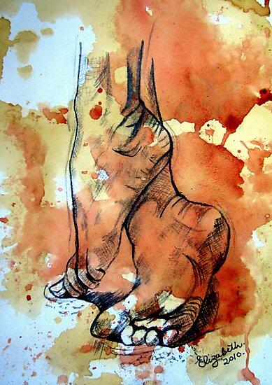 Barefoot in the rain by Elizabeth Kendall