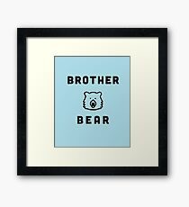 Brother Bear from the Matching Family Bear Set  Framed Print