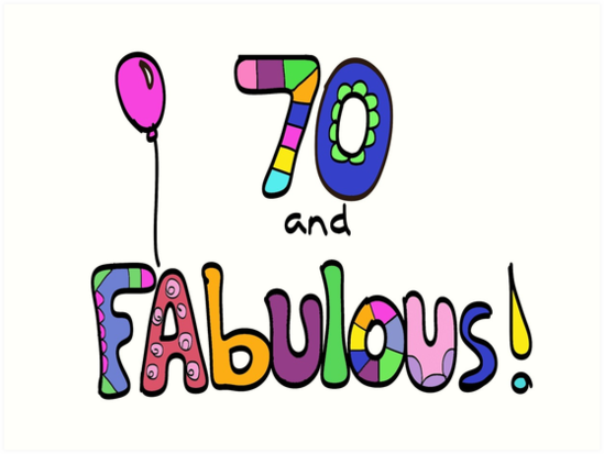 70 And Fabulous Happy 70th Birthday Balloon