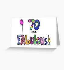 70 und fabelhafter glücklicher 70. Geburtstags-Ballon Grußkarte