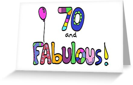 70 And Fabulous Happy 70th Birthday Balloon By Zanydoodles