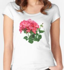 Geranium Relaxing Women's Fitted Scoop T-Shirt