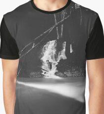 Minimalistic black and white waterfall Graphic T-Shirt