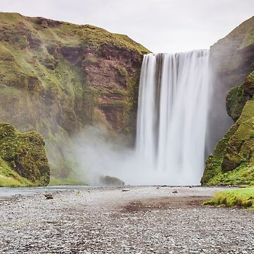 Skogafoss waterfall by domcia