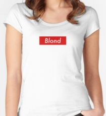 Supr eme Blond Box Logo Frank Ocean Women's Fitted Scoop T-Shirt