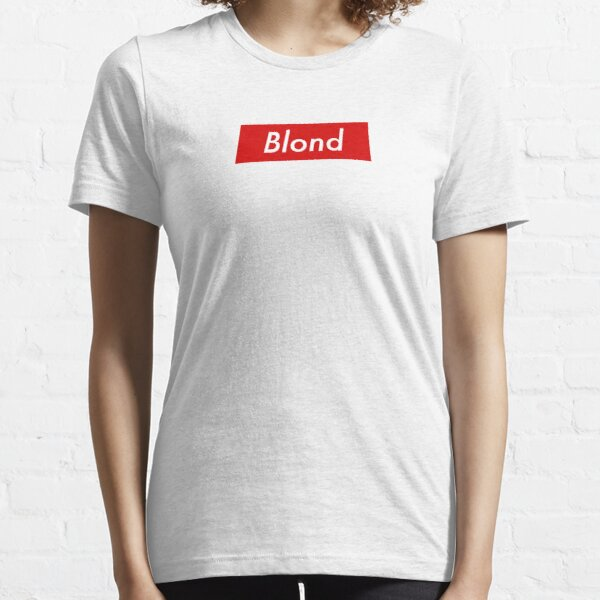 Supr eme Blond Box Logo Frank Ocean Essential T-Shirt