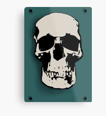 Skull - Sherlock Metal Print