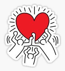 Keith Haring Love Falsettos Sticker