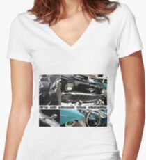 Norwalk Elks Lodge #2142; Car Show Collaboration; It's the details; Norwalk, CA USA Women's Fitted V-Neck T-Shirt