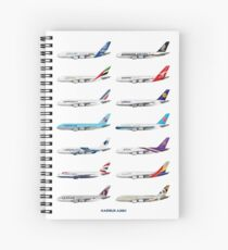 Airbus A380 Operators Illustration Spiral Notebook
