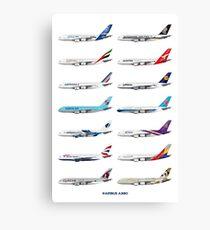 Airbus A380 Operators Illustration Canvas Print
