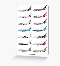 Airbus A380 Operators Illustration Greeting Card