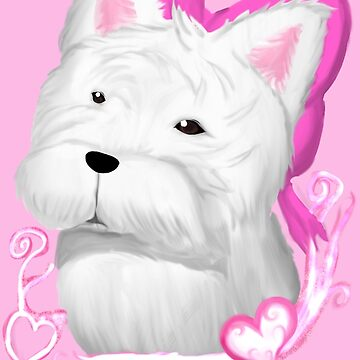 West highland Terrier Bow ( hot pink ) by Redjiggs