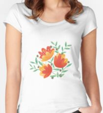 Light Afternoon Blossoms Women's Fitted Scoop T-Shirt