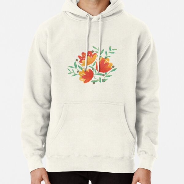 Light Afternoon Blossoms Pullover Hoodie