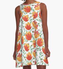Light Afternoon Blossoms A-Line Dress
