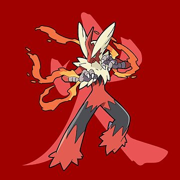 Blaziken With Fire Kanji by ShinobuSensui