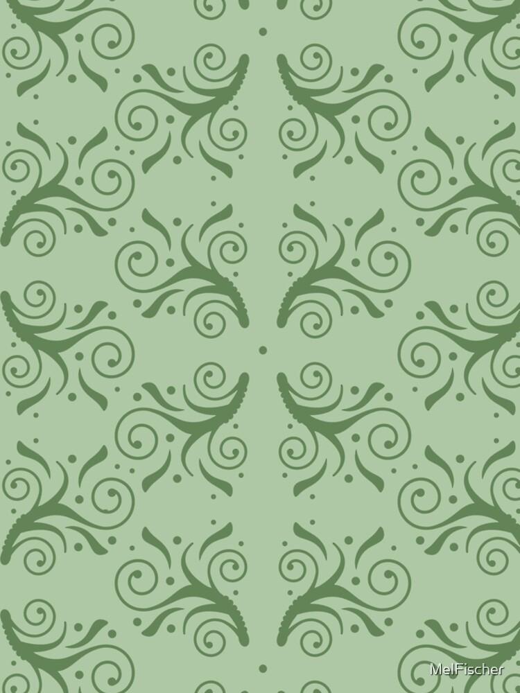 Flourish Pattern in Green by MelFischer