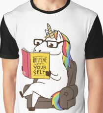 Unicorn Believe in Yourself Magical Fabulous Graphic T-Shirt