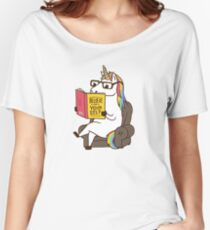 Unicorn Believe in Yourself Magical Fabulous Women's Relaxed Fit T-Shirt
