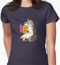 Unicorn Believe in Yourself Magical Fabulous Womens Fitted T-Shirt