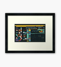 Control Interface Framed Print